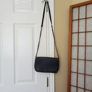 Black Faux Leather Forever 21 Crossbody Purse